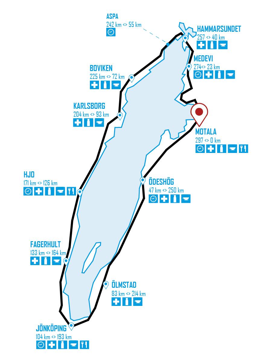 vätternrundan karta The course vätternrundan karta